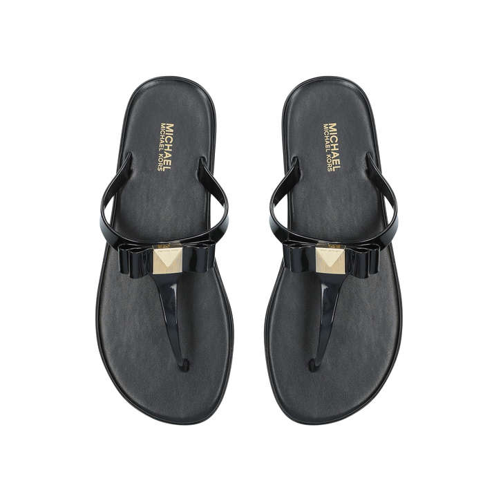 9c5aa6f59 Caroline Jelly Thong Black Flat Jelly Sandals By Michael Michael Kors