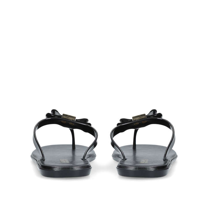1d4d5558f995 Caroline Jelly Thong Black Flat Jelly Sandals By Michael Michael Kors