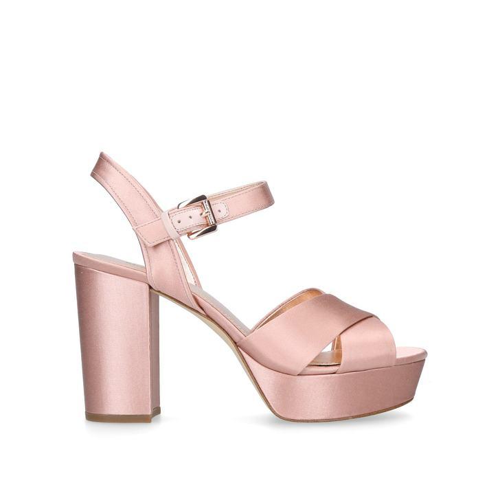 1dfbd13897b Divia Platform Pink Mid Heel Sandals By Michael Michael Kors