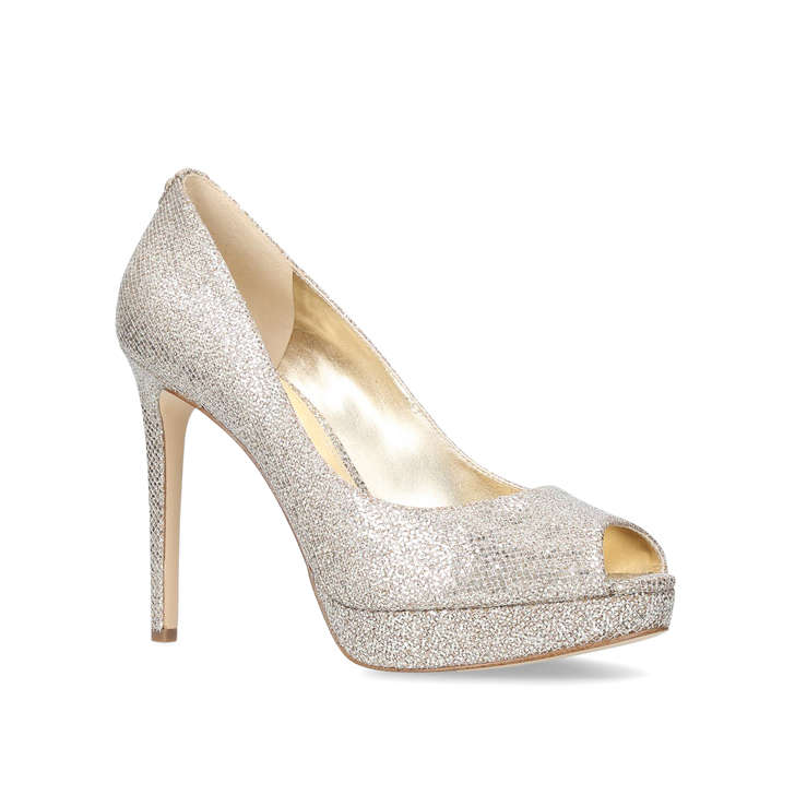 9ebe09200ad6 Erika Platform Silver Platform High Heel Shoes By Michael Michael Kors