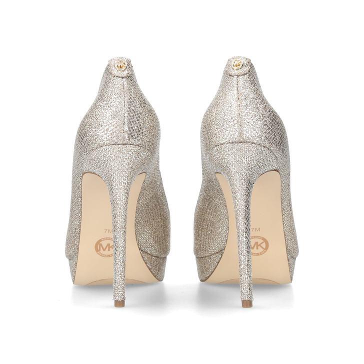 834f5e13ff50 Erika Platform Silver Platform High Heel Shoes By Michael Michael Kors