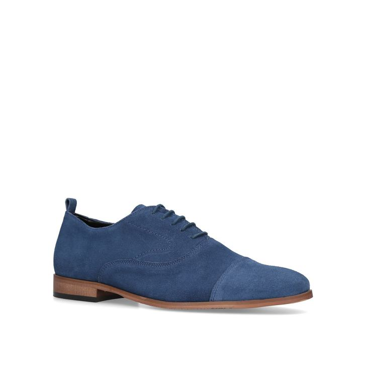Thistle Blue Suede Oxford Shoes By Kurt