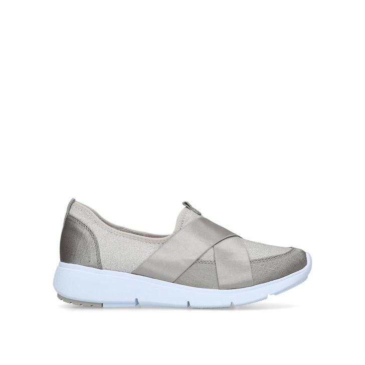 5e7e4baded9 Takeoff Silver Low Top Trainers By Anne Klein