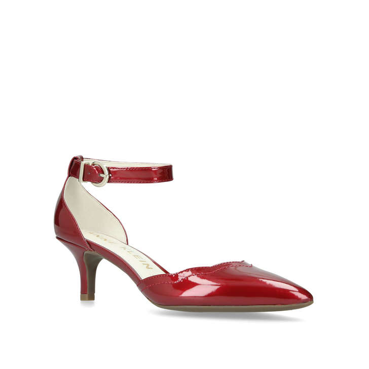 d5d33413b314 Findaway Red Kitten Heels By Anne Klein