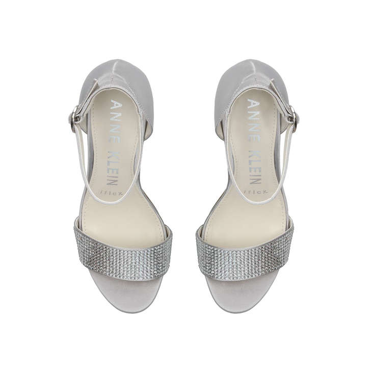 d36be0737c0 Odree Metallic Silver Studded Strappy Sandals By Anne Klein