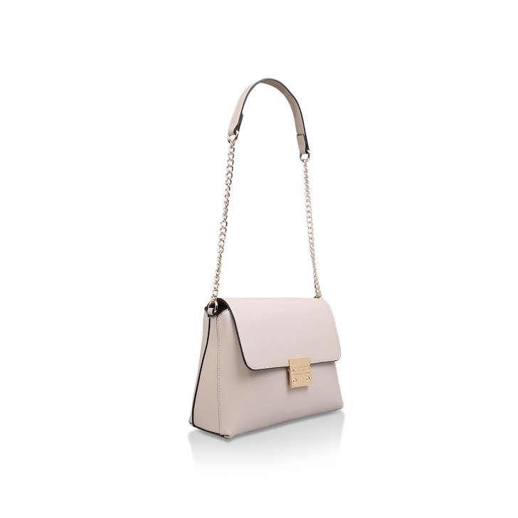 Blink Chain Handle Bag White Shoulder Bag By Carvela | Kurt Geiger