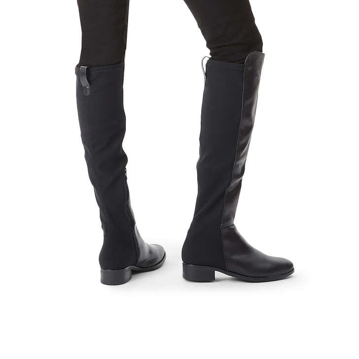 584bbdd169310 Vanessa Black Leather High Leg Boots By Carvela Comfort   Kurt Geiger