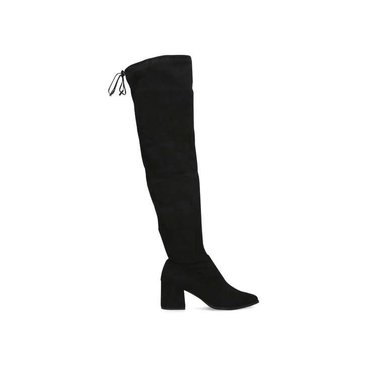 Wild Black Block Heel Over The Knee Boots By Carvela  f17aa522d