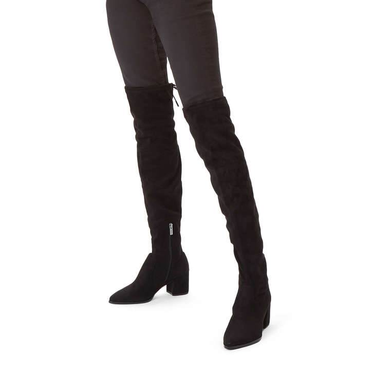 32cb093554f Wild Black Block Heel Over The Knee Boots By Carvela