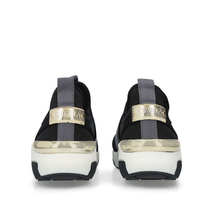 Laidback Black Slip On Trainers By