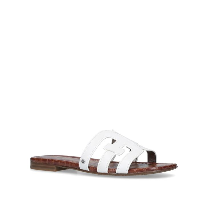 5e4d85adf Bay Sandal White Flat Sandals By Sam Edelman