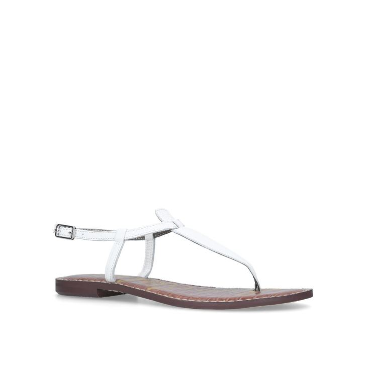 017825415 Gigi Sandal White Flat Sandals By Sam Edelman