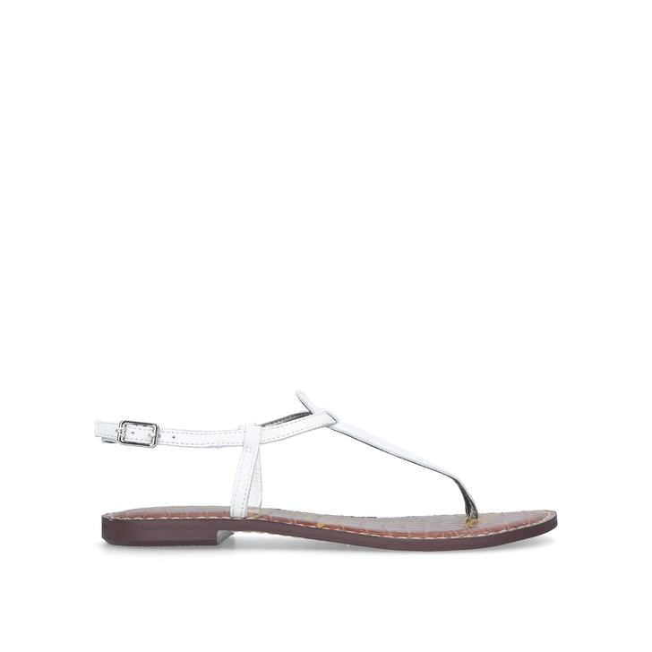 dee475010dc302 Gigi Sandal White Flat Sandals By Sam Edelman