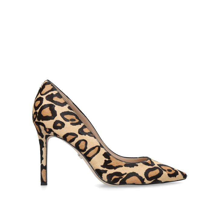 f026d66cc Hazel Pump 90 Leopard Print Stiletto Heel Court Shoes By Sam Edelman | Kurt  Geiger