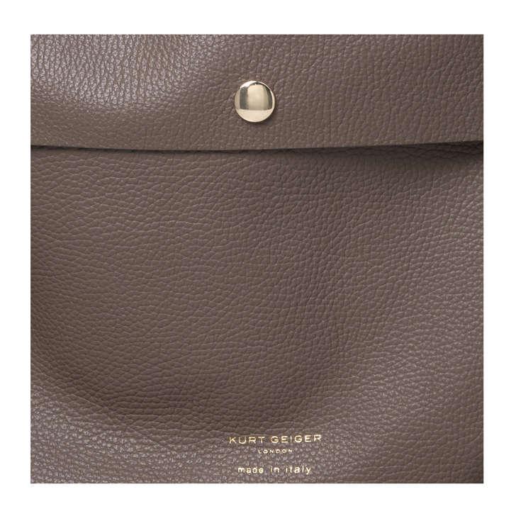 bb93ceccd5b1 Rebecca Soft Hobo Dark Grey Leather Shoulder Bag By Kurt Geiger London