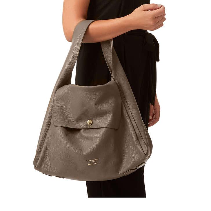 76386e4db774 Rebecca Soft Hobo Dark Grey Leather Shoulder Bag By Kurt Geiger ...