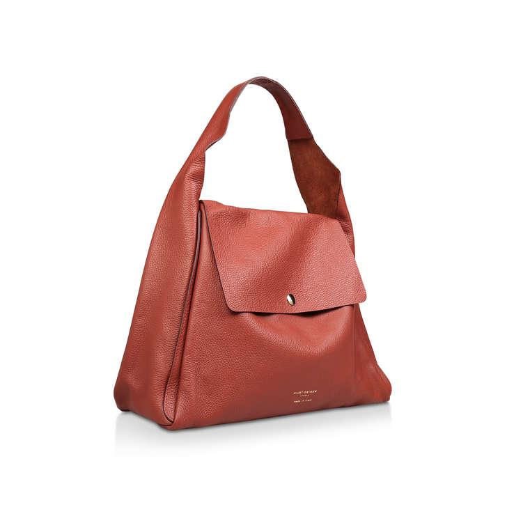 5376cee1477f Rebecca Soft Hobo Rust Leather Shoulder Bag By Kurt Geiger London ...