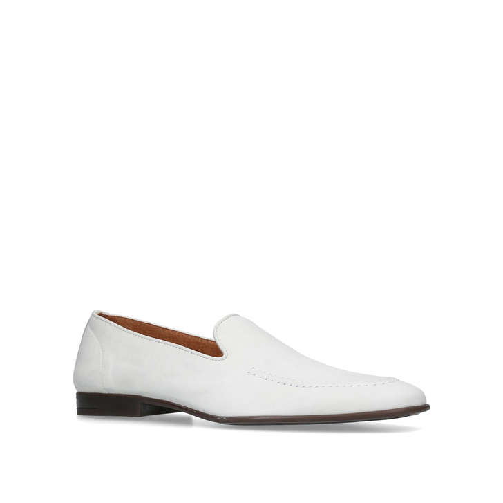 Kurt Geiger London Palermo loafers in white leather factory outlet cheap online clearance Manchester footlocker cheap popular wrmY7