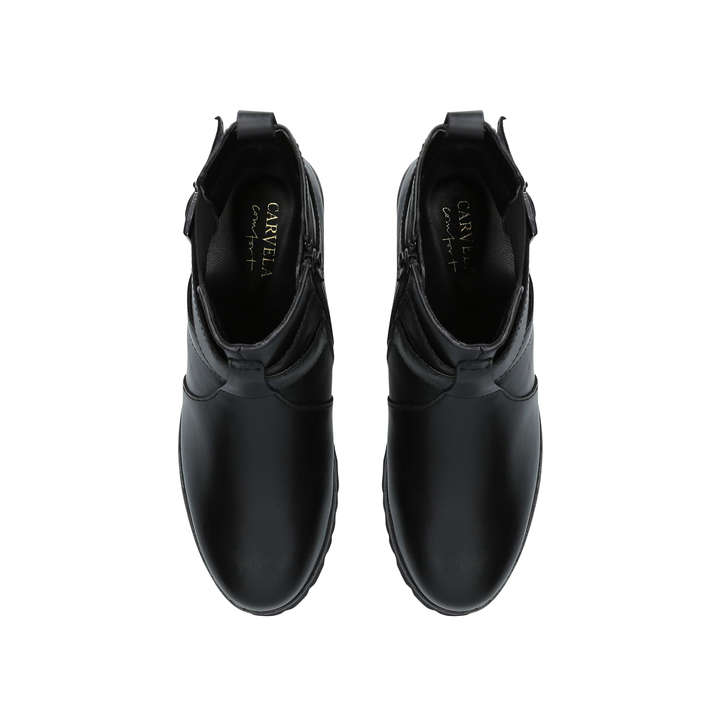 c22b37dd1a29 Robbie Black Leather Chelsea Boots By Carvela Comfort