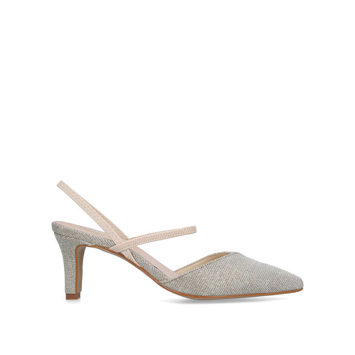 4beb309f0c324 Asya Metallic Gold Kitten Heel Court Shoes By Carvela Comfort