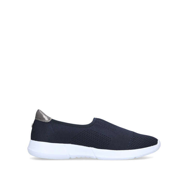 CARLY 2 Navy Slip On Trainers by