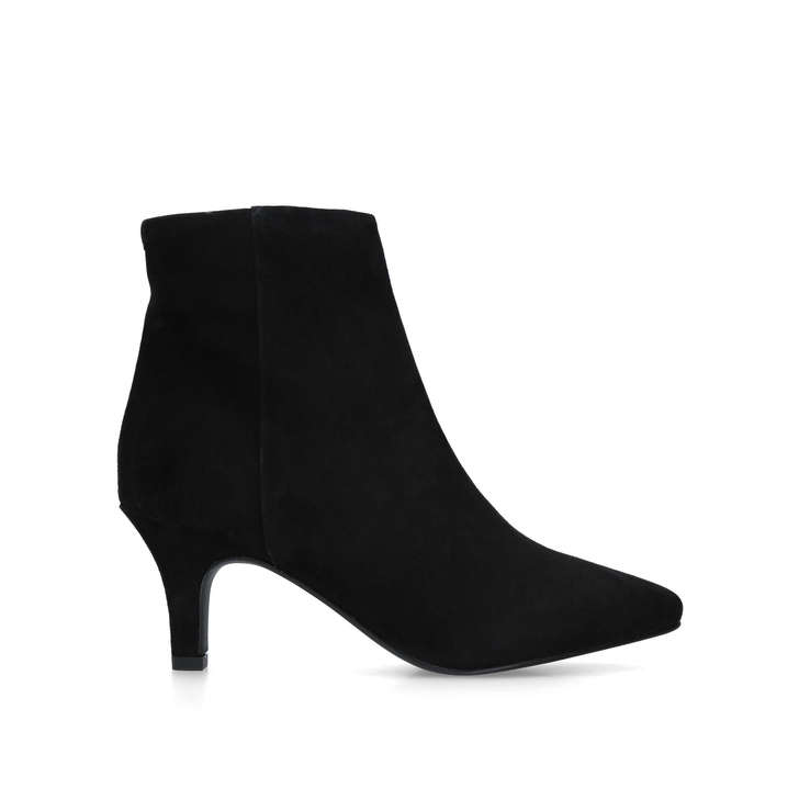 ROMY Black Suede Ankle Boots by CARVELA