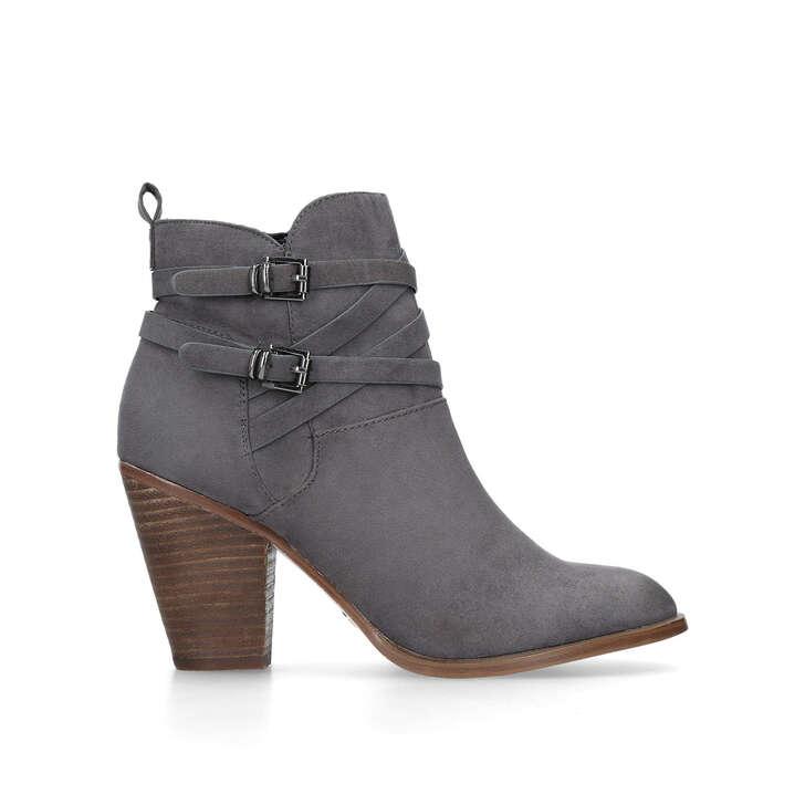 SPIKE2 Grey Block Heel Western Ankle