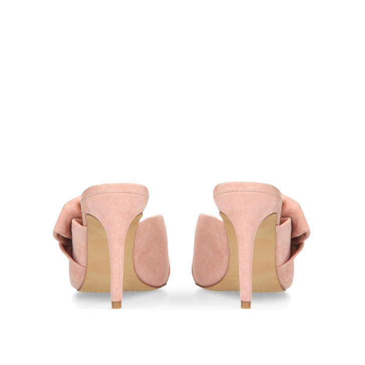 4d54b96166f Amillada Pink Leather Heeled Mules By Vince Camuto