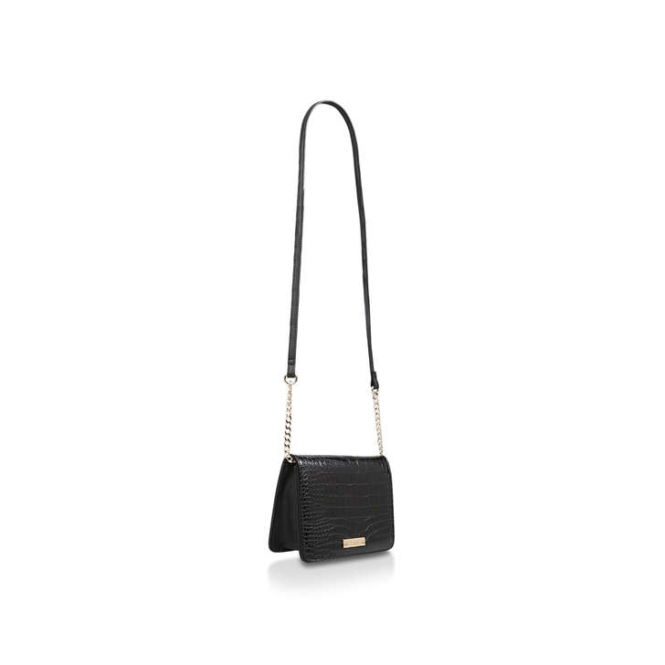 eb834793a27 Rebecca Croc X Body Black Croc Print Crossbody Bag By Carvela | Kurt Geiger