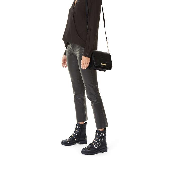 e6e806c19d8 Rebecca Croc X Body Black Croc Print Crossbody Bag By Carvela | Kurt ...