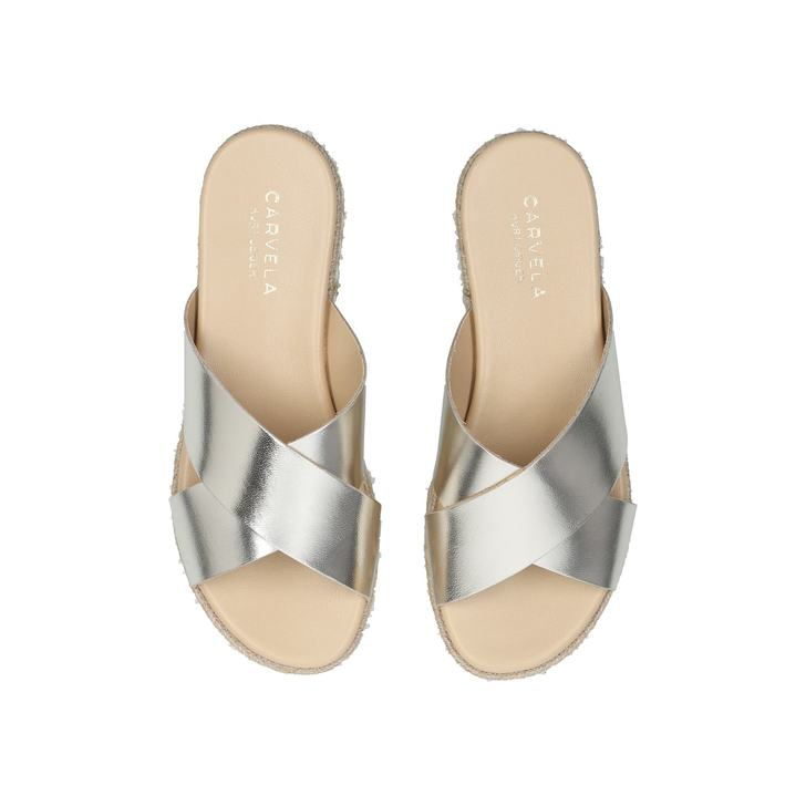 12b2cc8a8cf Kupkake Metallic Silver Flatform Sandals