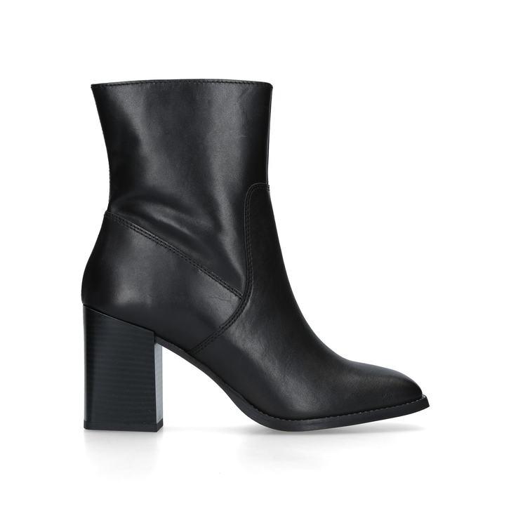 0da9a912f03f Shiraz Black Leather Block Heel Ankle Boots By Carvela