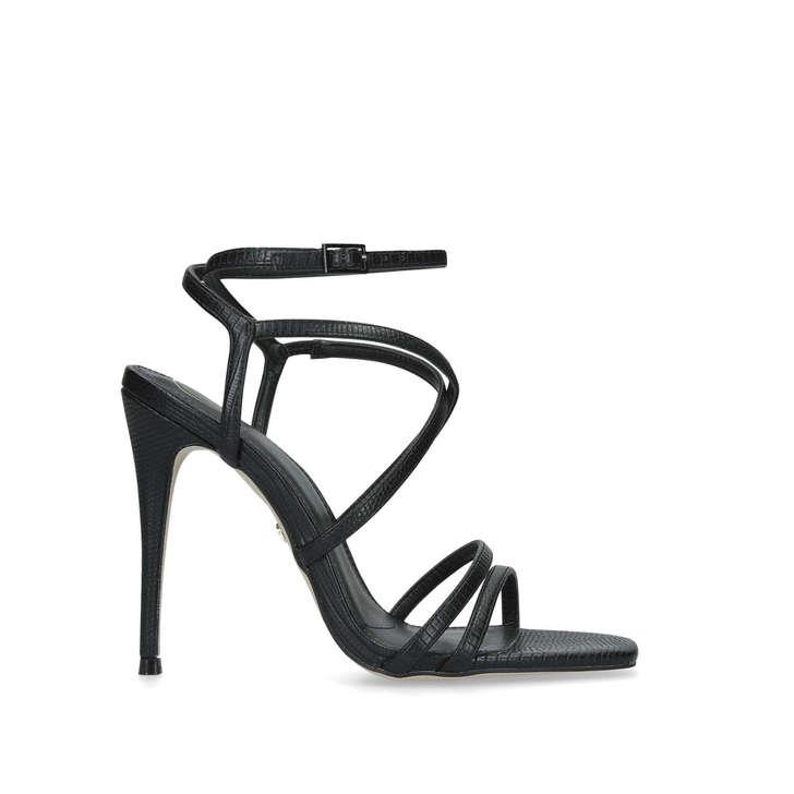 Alexis Black Stiletto Heel Sandals By KG Kurt Geiger | Kurt