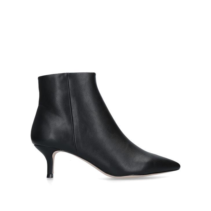 TAMARA Black Kitten Heel Ankle Boots by