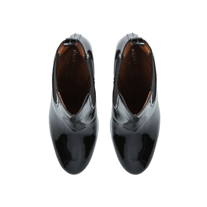 19f5f4076880 Raylan Black Patent Block Heeled Ankle Boots By Kurt Geiger London ...