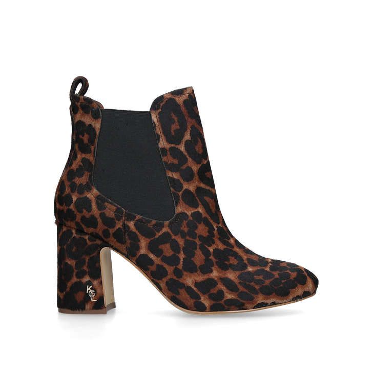 7aad23d3c035 Raylan Leopard Print Block Heeled Ankle Boots By Kurt Geiger London | Kurt  Geiger