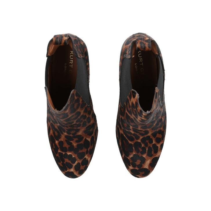 3055b4a95634 Raylan Leopard Print Block Heeled Ankle Boots By Kurt Geiger London ...
