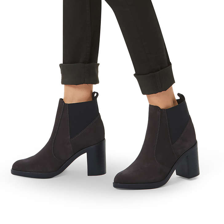 7258816678b Sicily 2 Grey Suede Heeled Chelsea Boots By Kurt Geiger London ...