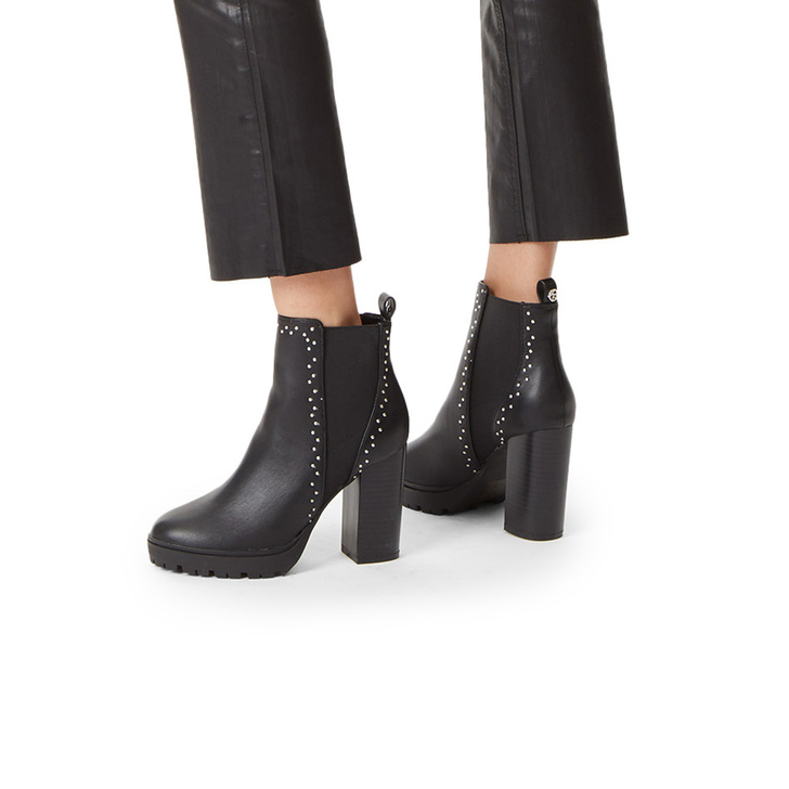 437a839ae18d Trinity 2 Black Studded Block Heel Ankle Boots By KG Kurt Geiger ...