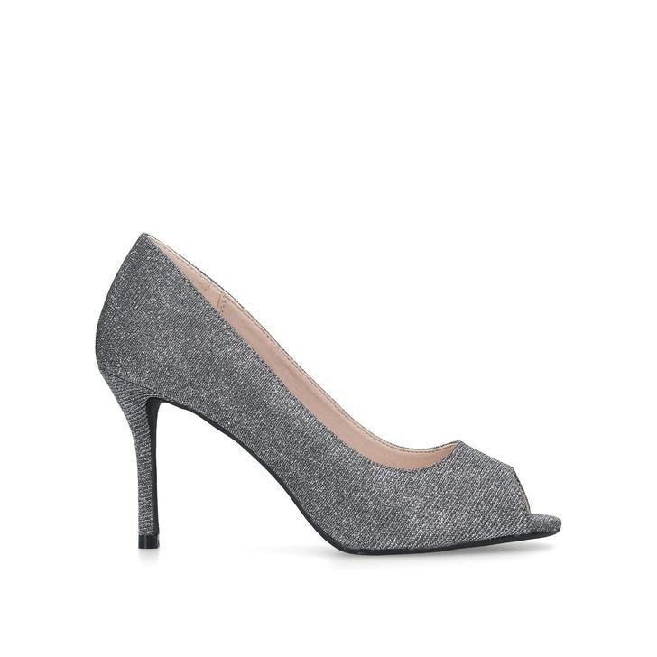 5938bd8b04888e Cooper Metallic Peep Toe Court Shoes By Miss KG
