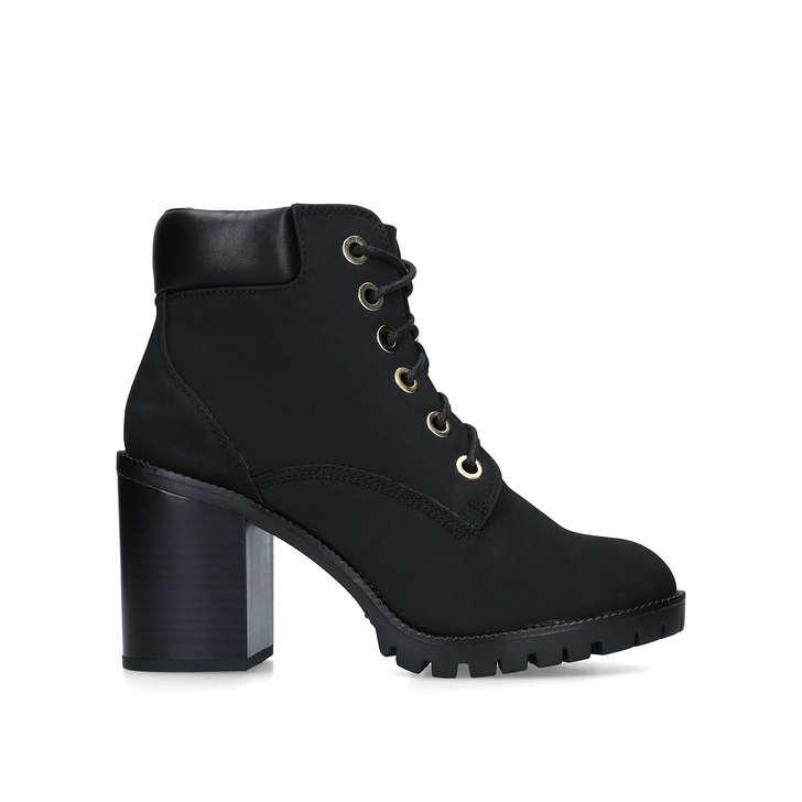 2815a2cfa41 Jill Black Block Heel Hiker Boots By Miss KG | Kurt Geiger