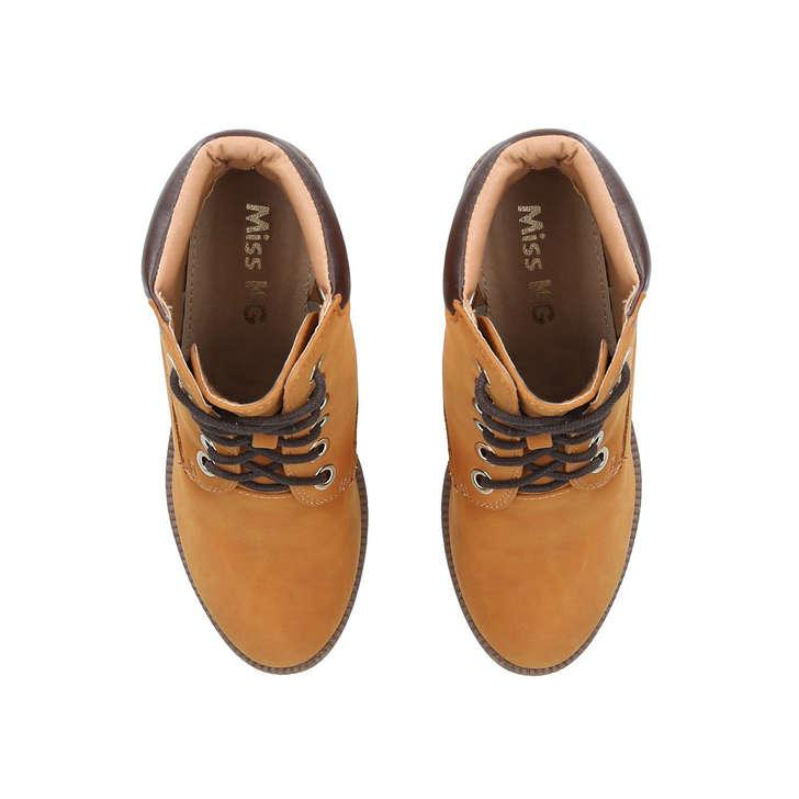 3c0a4170921 Jill Tan Block Heel Hiker Boots By Miss KG | Kurt Geiger