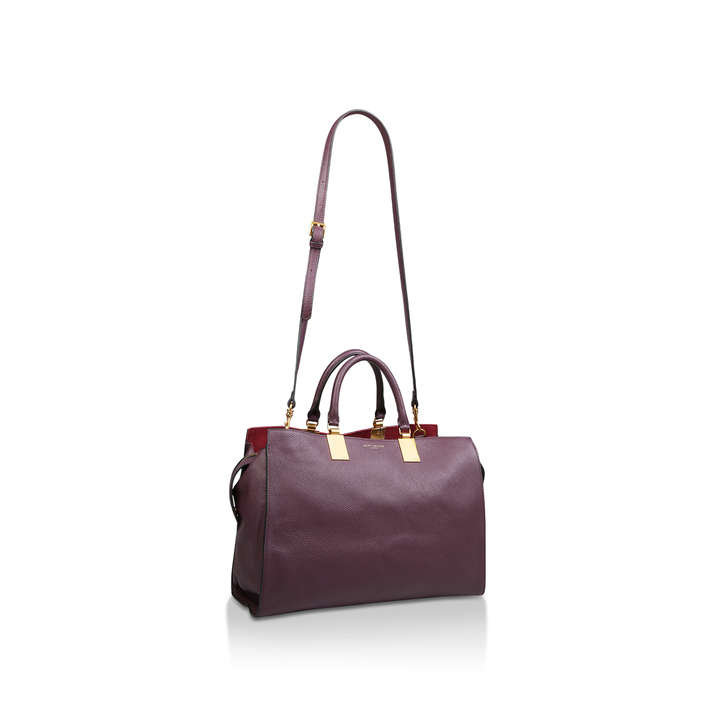 Leather Lg Emma Tote Wine Large Leather Tote Bag By Kurt