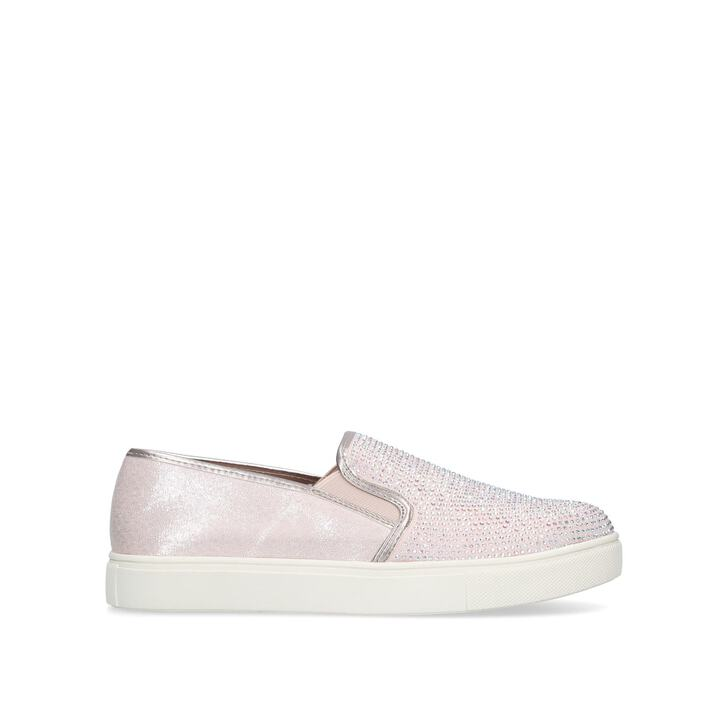Jamm Blush Studded Slip On Trainers By
