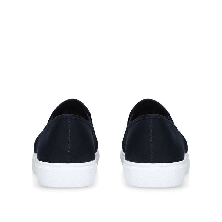 Jamm Navy Studded Slip On Trainers By
