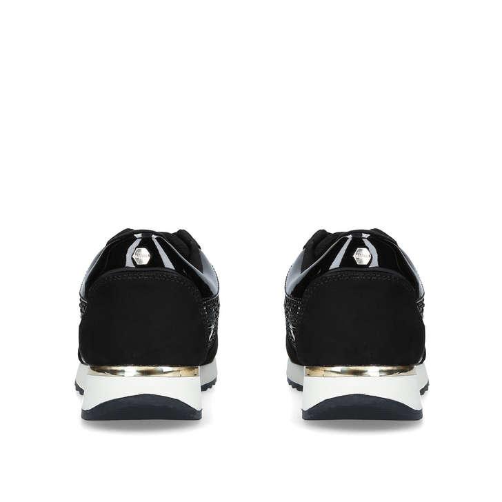 Jist Black Embellished Low Top Trainers