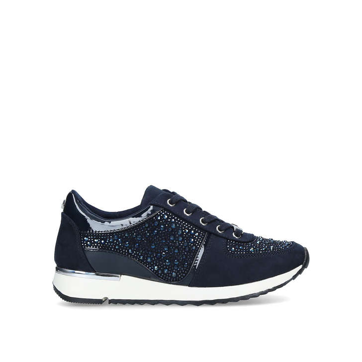 JIST Blue Embellished Low Top Trainers