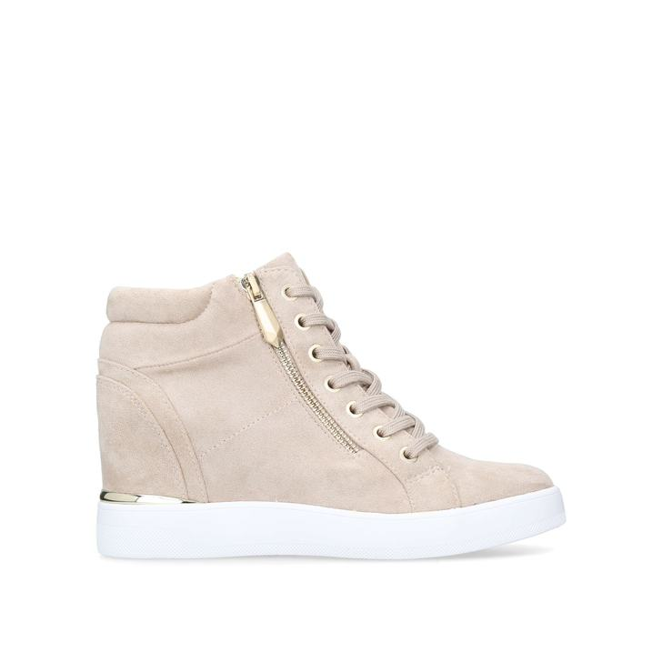 fadfdb73571 Ailanna Beige High Top Trainers By Aldo