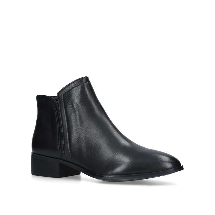 Gweria Black Leather Ankle Boots By