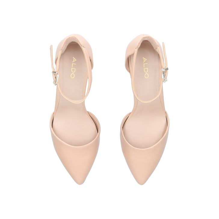 e809e4fd5cb Keclya Pink Block Heeled Court Shoes By Aldo